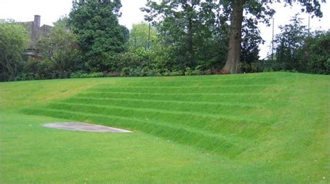 grass stairs rear garden  grass steps  performance