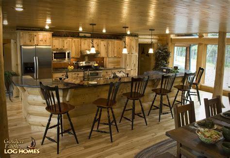 Eagle Kitchen by Golden Eagle Log And Timber Homes Log Home Cabin
