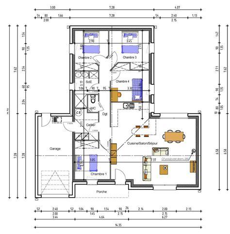 plan maison 150m2 4 chambres cuisine plan b d maison en bois r suite et chambres plan