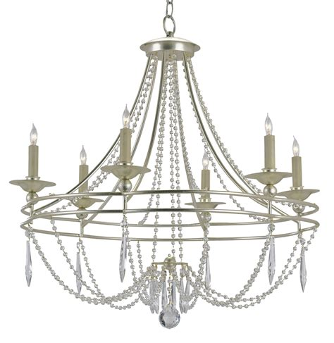 currey and company 9161 watteau six light chandelier