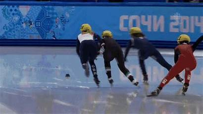 Speed Skating Olympic Olympics Gold Fails Skaters