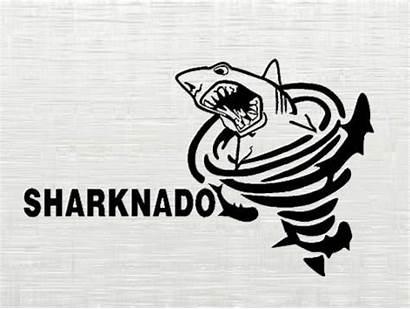 Sharknado Svg Shark Silhouette Cutting Dxf Clip