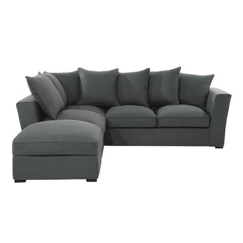 canapé d angle 12 places canapé d 39 angle 5 places en tissu gris ardoise balthazar