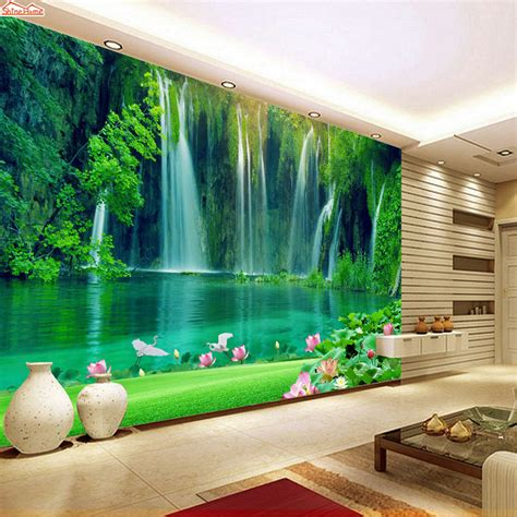 buy shinehome modern waterfall natural