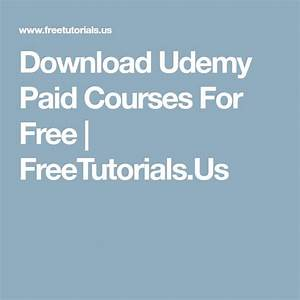 Download Udemy Paid Courses For Free