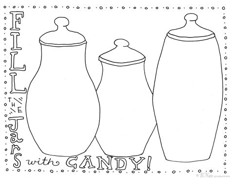 Candy Jar Coloring Page Pages