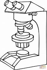 Microscope Coloring Pages Drawing Medicine Simple Printable Template Clipart Sketch Labels Clipartmag Getdrawings sketch template