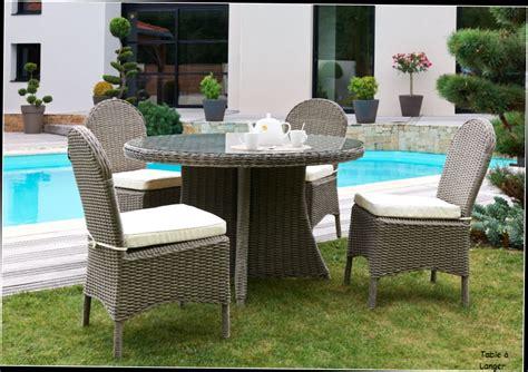 table ronde avec rallonge bois ori salon de jardin zenith table et 4 chaises en resine tressee