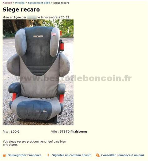 siege recaro bebe siège recaro equipement bébé lorraine best of le bon