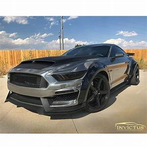 Ford Mustang-GT wrapped in Avery SW Black Chrome vinyl
