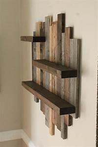 unique rustic wall shelf handmade farmhouse style wall