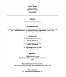 Pdf Resume Template 40 Blank Resume Templates Free Sles Exles Format Free Premium Templates