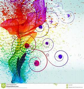 Tache De Couleur Peinture Fond Blanc : la peinture de couleur clabousse illustration de vecteur image 16467281 ~ Melissatoandfro.com Idées de Décoration