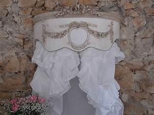 Chambre Shabby Chic : ciel de lit demi lune patin chambre romantique et shabby chic boutique ~ Preciouscoupons.com Idées de Décoration