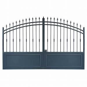 Portail 4m Battant Pas Cher : portails fer forg pas cher avec portails coulissant et ~ Edinachiropracticcenter.com Idées de Décoration