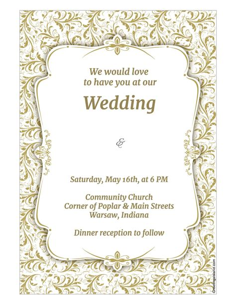 Invitiation Template by Wedding Invitation Template Wedding Invitation Template