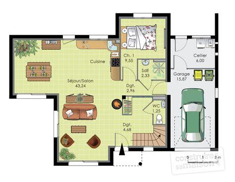 plans de maison plain pied 3 chambres maison contemporaine 12 dé du plan de maison