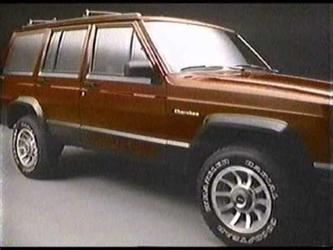 jeep cherokee chief xj 1986 jeep cherokee chief commercial youtube