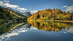 Germany, Lake, With, Mountain, Reflection, Hd, Nature, Wallpapers
