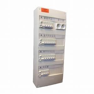 Tableau Electrique 4 Rangées : tableau lectrique pr c bl 4 rang es 13 modules ~ Dailycaller-alerts.com Idées de Décoration