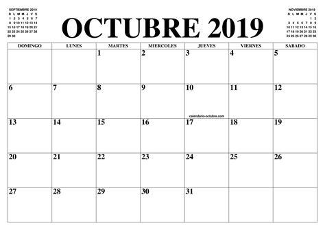 calendario octubre el calendario octubre