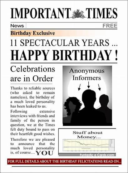 Happy Funny Newspaper Birthday Quotes 19th Anniversary