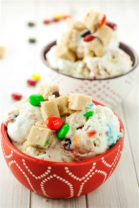 churn mms cookie dough ice cream  simple pantry