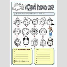 ¿quà Hora Es?  Tiempo Y Medida  Pinterest  Studentcentered Resources, Printables And Worksheets
