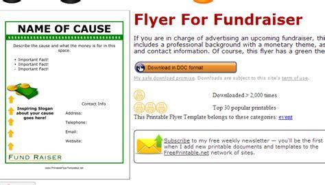 fundraiser flyer template free 5 free fundraiser flyer templates af templates