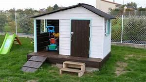 idee peinture cabane bois good interesting peinture With conseil pour peindre un mur 18 cabane de jardin en palette bois pour enfant