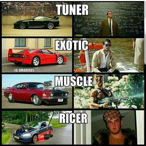 Whast Type Of Car Enthusiast Are You? Tuner Exotic Muscle