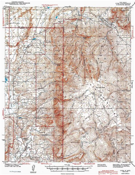collection   usgs topographic map  cuba nm