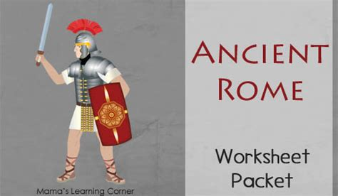 ancient rome worksheet packet  st  graders mamas