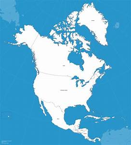 Open-source Vector North America Map - Zach Grosser