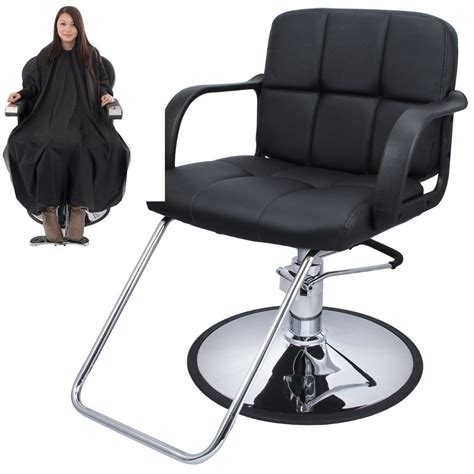 cutting hair cape w hydraulic barber chair salon