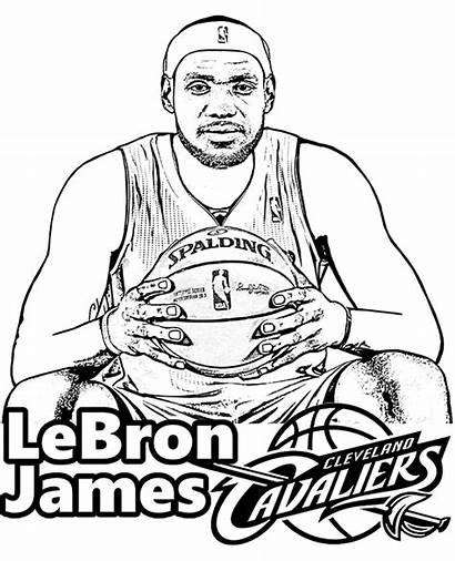 Lebron Coloring James Nba Basketball Printable Dessin
