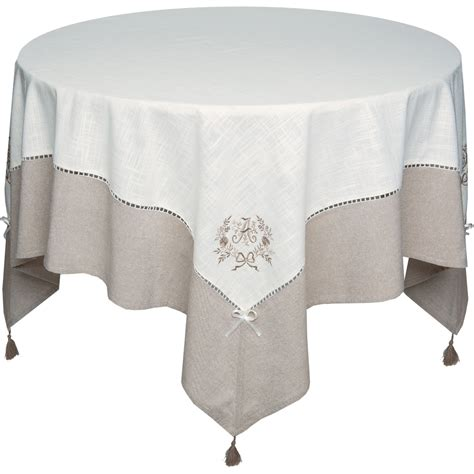 nappe de table brodee nappe rectangulaire brod 233 e marquise blancheporte