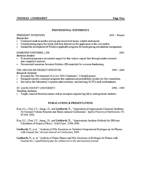 Engineering Model Resume by Exle Resume Resume Format Bullets Or Paragraph