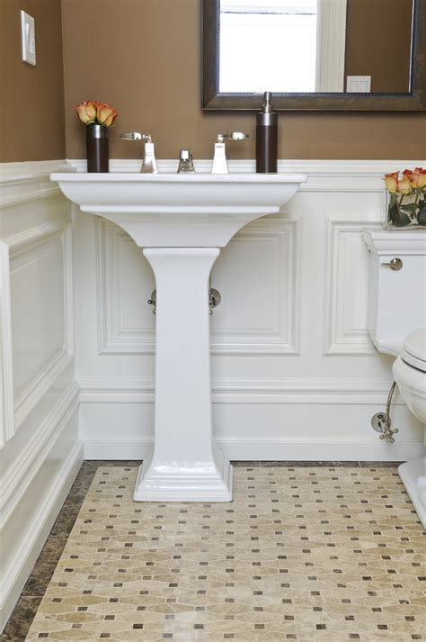 bathroom with wainscoting ideas inspired kohler memoirs in bathroom traditional with