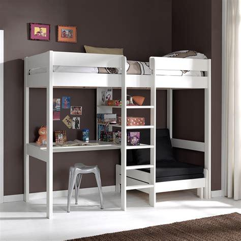lit mezzanine 1 place avec bureau lit mezzanine avec fauteuil et bureau aubin zd1 lit sur