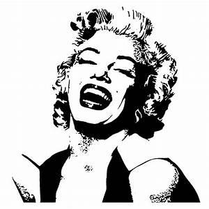Marilyn Monroe Wall Art, Marilyn Monroe Stencil Marilyn