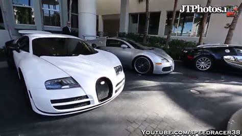 Five Bugatti Veyrons Stun In Miami!