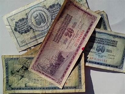 Money Cash Banknotes Yugoslavia Paper Bills Bank