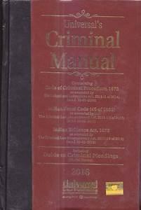 Criminal Manual  Cr P C   I P C   U0026 Evidence   With Free