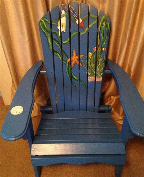 crafted painted adirondack chair by chairs