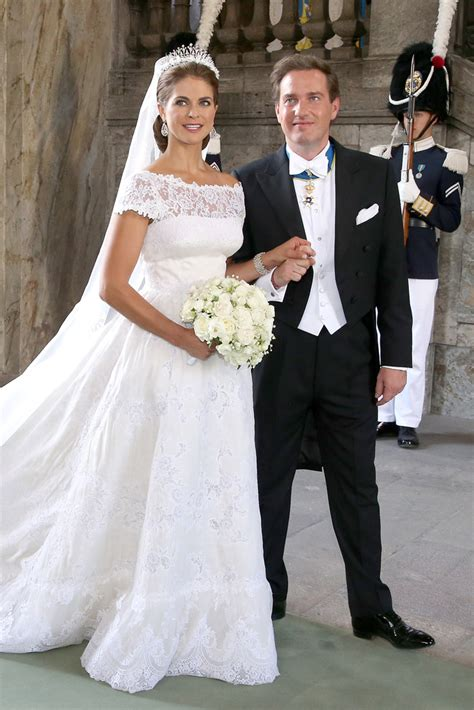 princess madeleine  sweden   valentino wedding dress