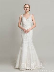 Delicate Long Lace Mermaid Wedding Gown with Low Back ...