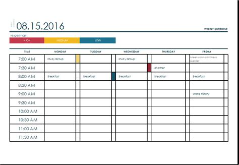 schedules template in excel weekly schedule template excel eskindria com