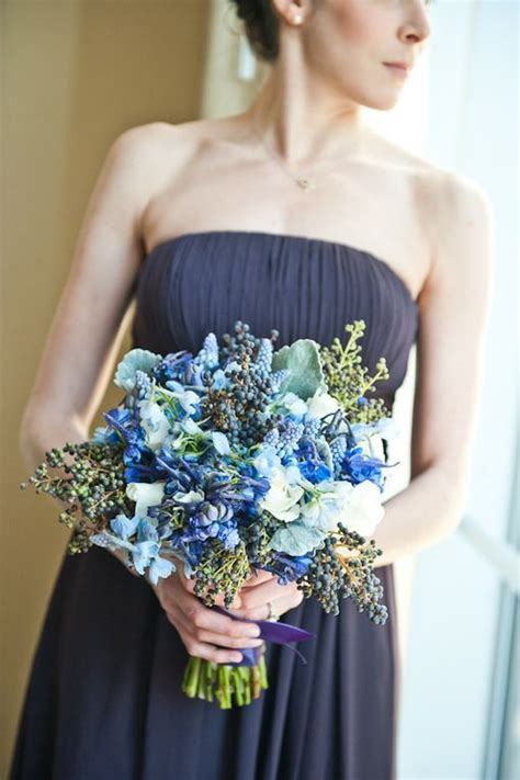 wedding wednesday blue lavender purple floral