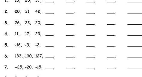 year 5 number sequences 3 worksheets by jkunzi teaching resources